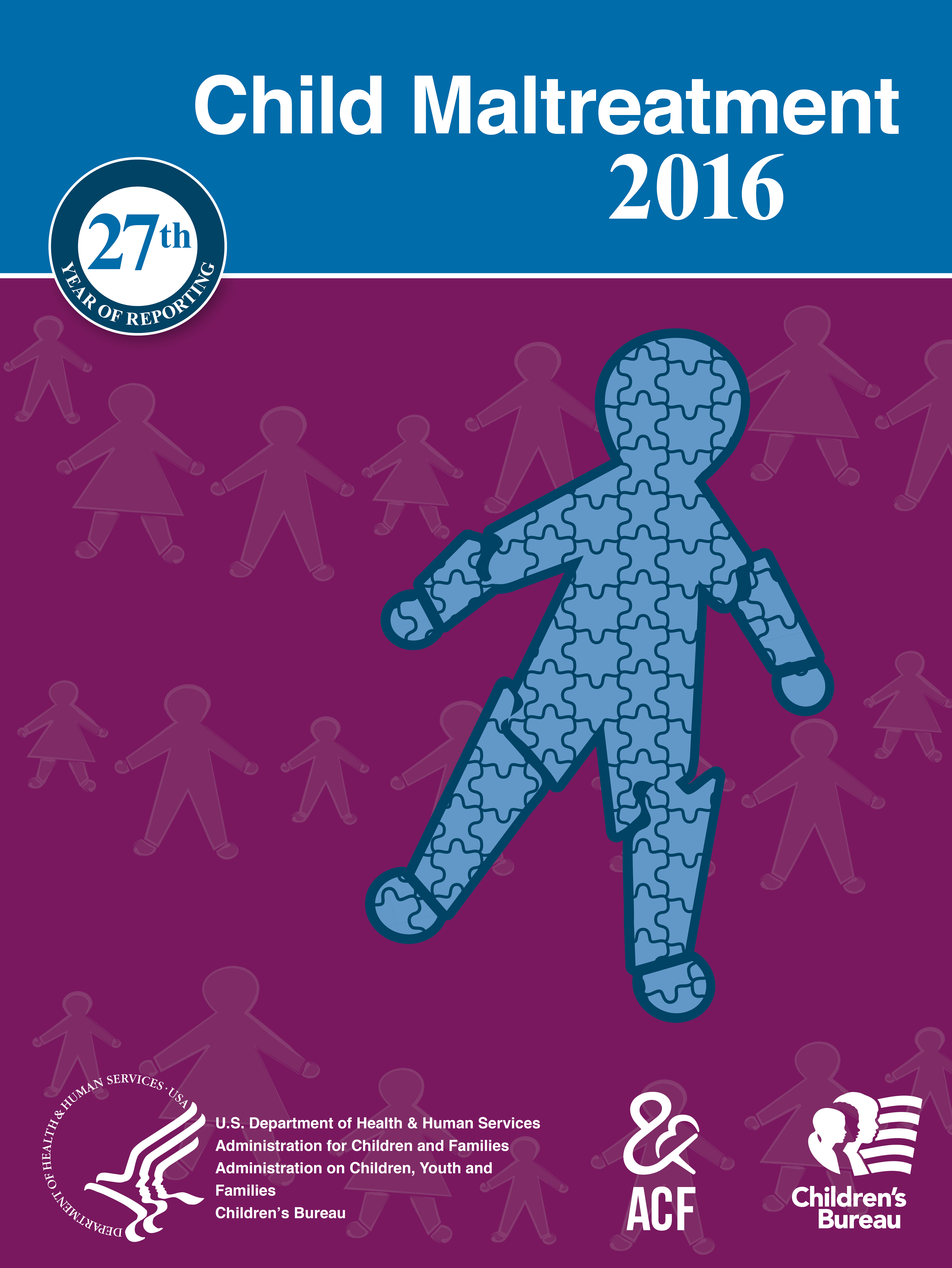 Graphic of Child Maltreatment 2016 Cover