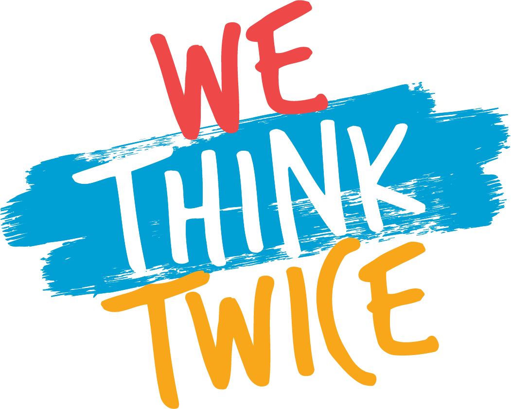 Logo for the We Think Twice campaign