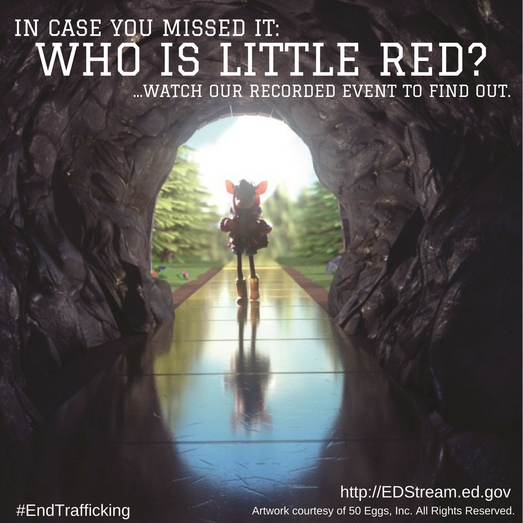 In case you missed it: Who is Little Red? ..Watch our recorded event to find out. EDStream.gov.
