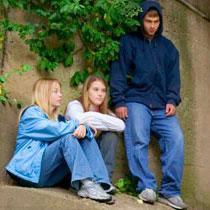 Teenagers standing