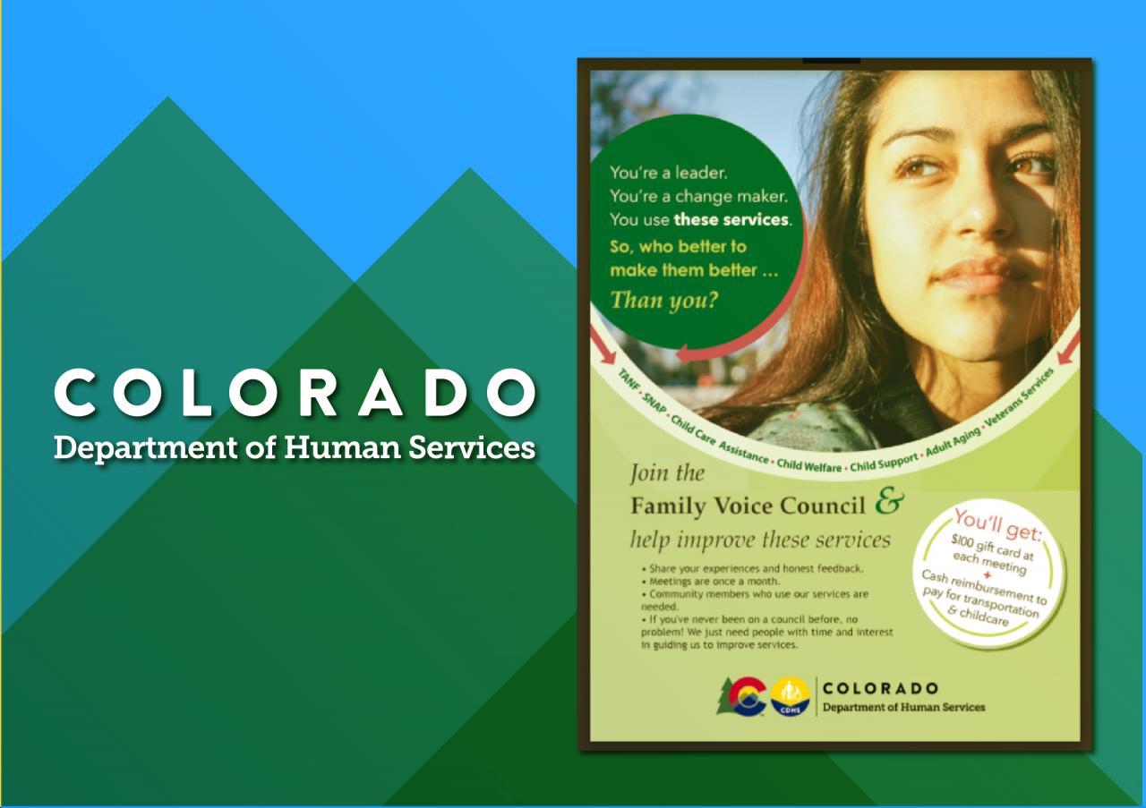 Image of woman and description of Colorado's Family Voice Council