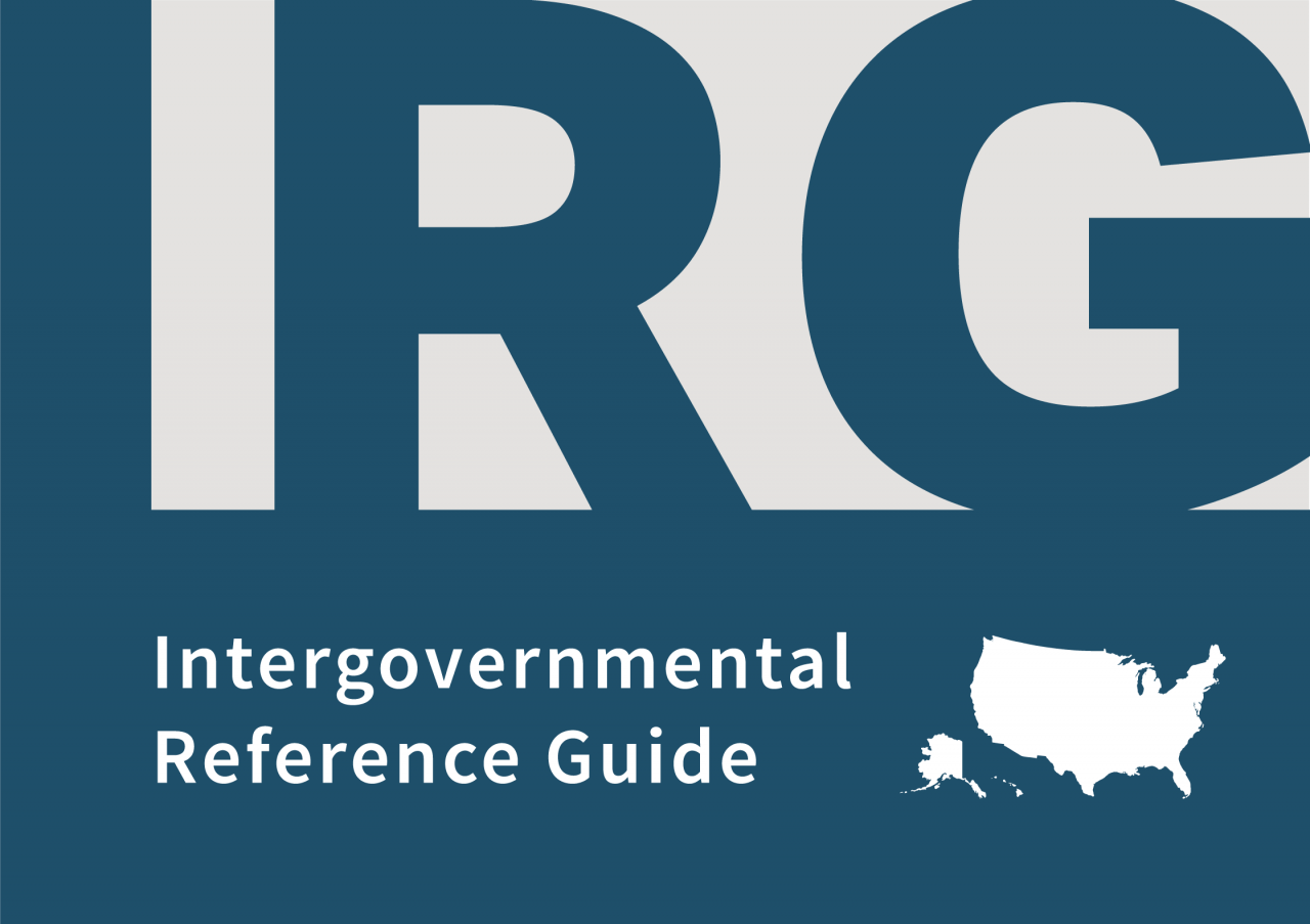 Text of Intergovernmental Reference Guide (IRG)