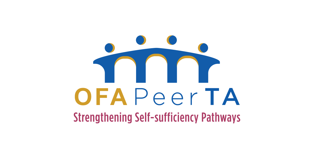 Office of Family Assistance PeerTA logo people form a bridge