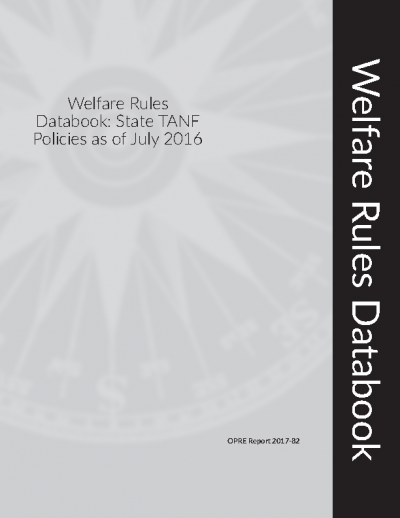 Welfare Rules Databook: State TANF Policies as of July 2016 Cover