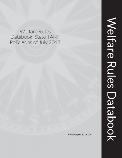Welfare Rules Databook: State TANF Policies as of July 2017 Cover