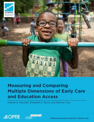 Cover image for Measuring and Comparing Multiple Dimensions of Early Care and Education Access