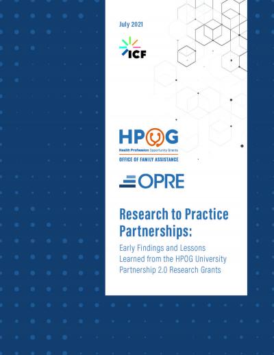 Research to Practice Partnerships cover image