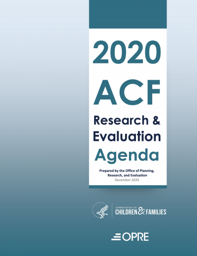 2020 Research and Evaluation Agenda Cover