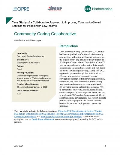Cover image for Case Study: Community Caring Collaborative