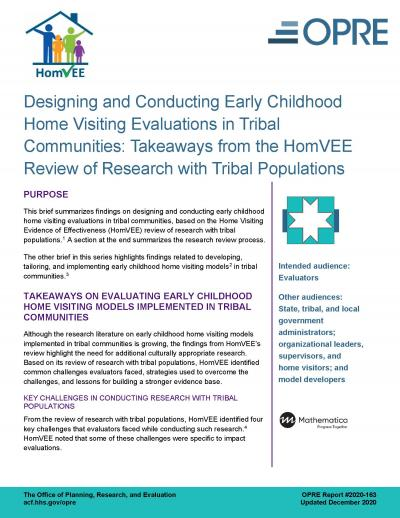 Cover image for Designing and Conducting Home Visiting Evaluations in Tribal Communities