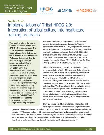 Tribal HPOG 2.0 Cover Image