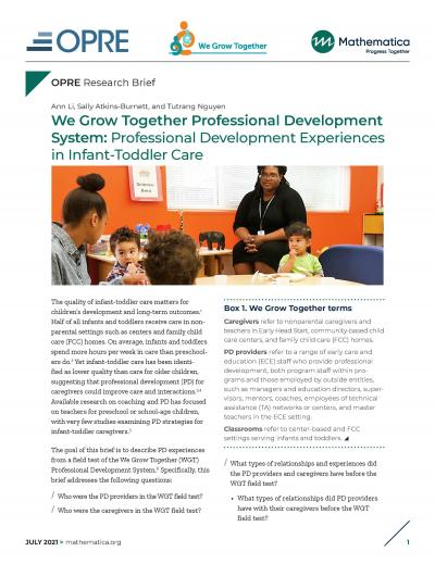 Cover image for We Grow Together Professional Development System