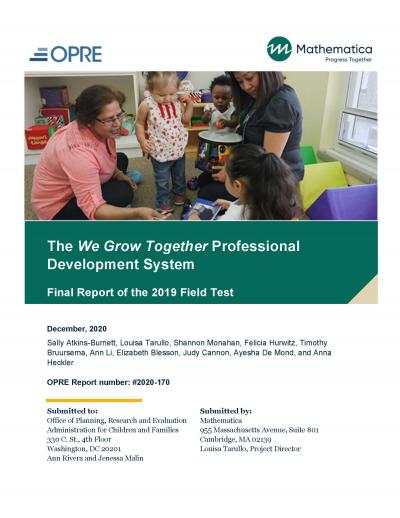 Cover image for The We Grow Together Professional Development System