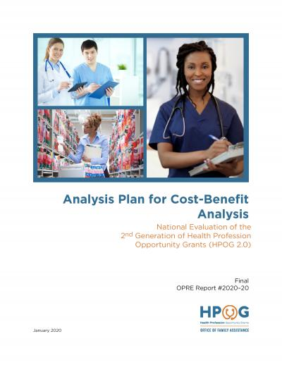 This is the report cover for HPOG Cost Benefit Analysis Plan