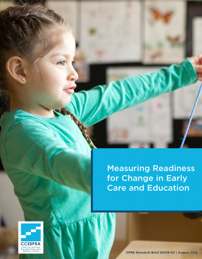 Cover of Measuring Readiness for Change in Early Care and Education