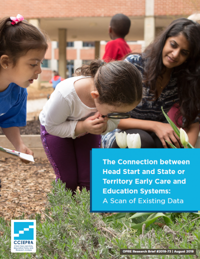 """Cover for """"The Connection between Head Start and State or Territory Early Care and Education Systems: A Scan of Existing Data"""" report"""