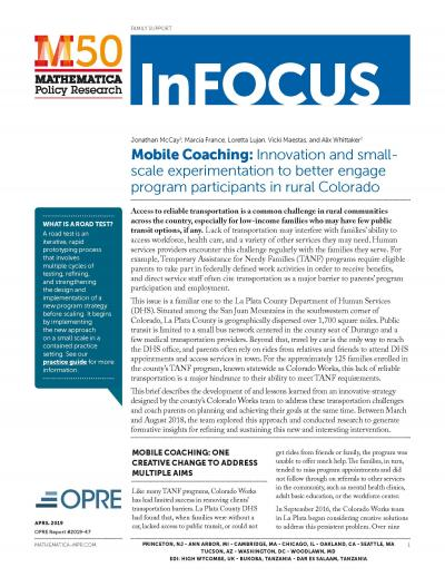 Mobile Coaching: Innovation and small-scale experimentation to better engage program participants in rural Colorado cover