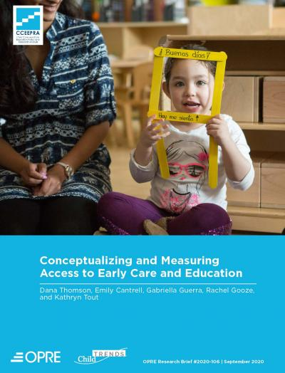 This is the cover of Conceptualizing and Measuring Access to Early Care and Education
