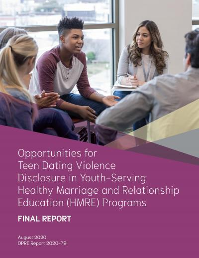 This is the Opportunities for Teen Dating Violence Disclosure in Youth-Serving Healthy Relationship Programs Cover
