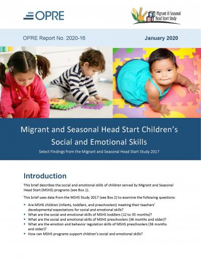 This is the report cover for the MSHS Social and Emotional Skills Report