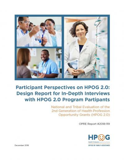 Cover Participant Perspectives on HPOG 2.0