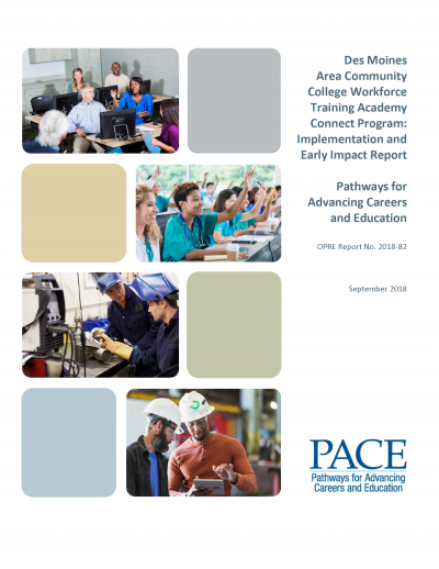 Des Moines Area Community College Workforce Training Academy Connect Program: Implementation and Early Impact Report Cover