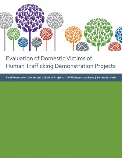 Evaluation of Domestic Victims of Human Trafficking Demonstration Projects: Final Report from the Second Cohort of Projects Cover