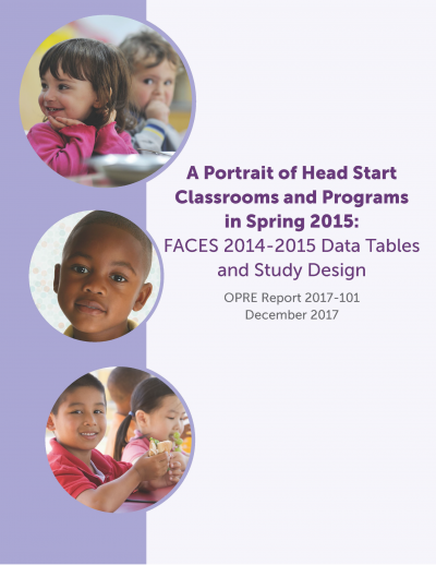 A Portrait of Head Start Classrooms and Programs in Spring 2015: FACES 2014-2015 Data Tables and Study Design Cover