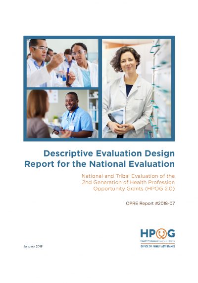 Descriptive Evaluation Design Report for the National and Tribal Evaluation of HPOG 2.0 Cover