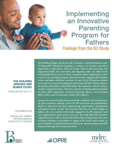 "Cover of ""Implementing an Innovative Parenting Program for Fathers: Findings from the B3 Study."""