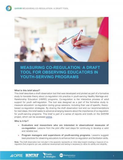 Cover image for Measuring Co-Regulation