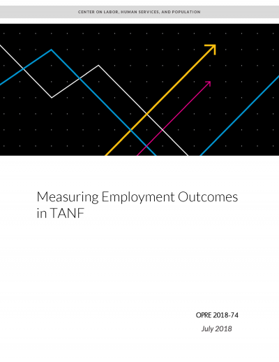 Measuring Employment Outcomes in TANF Cover