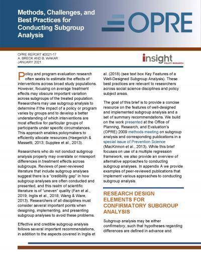 Cover image for Methods, Challenges, and Best Practices for Conducting Subgroup Analysis