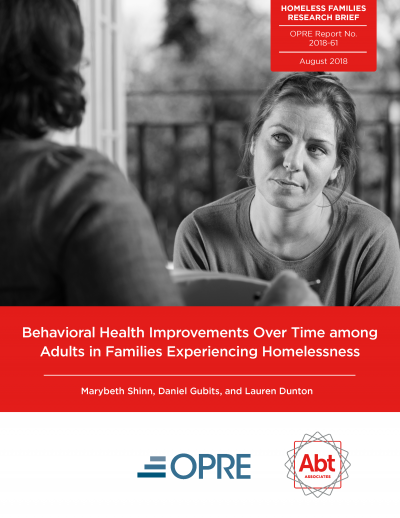 Behavioral Health Improvements Over Time among Adults in Families Experiencing Homelessness Cover