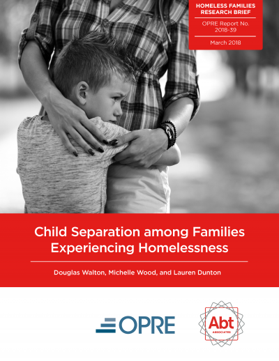 Child Separation among Families Experiencing Homelessness Cover