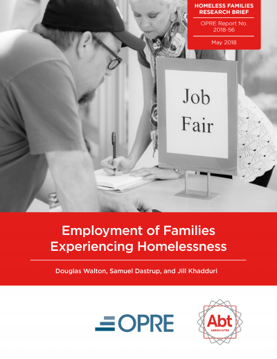 Employment of Families Experiencing Homelessness Cover
