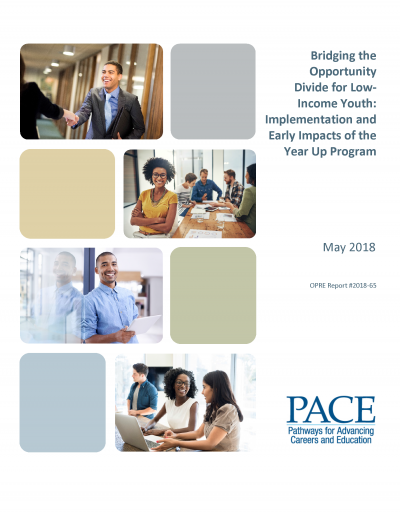 Bridging the Opportunity Divide for Low-Income Youth: Implementation and Early Impacts of the Year Up Program Cover