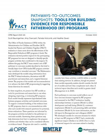 Cover image for the PACT PTO Responsible Fatherhood Report