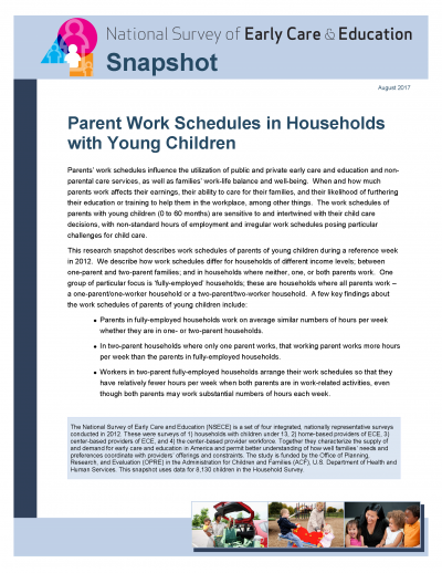 Parent Work Schedules in Households with Young Children