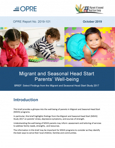 Cover of Migrant and Seasonal Head Start Parents' Well-being