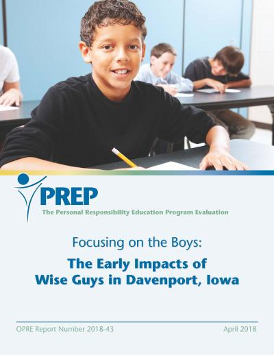 Focusing on the Boys: The Early Impacts of Wise Guys in Davenport, Iowa Cover