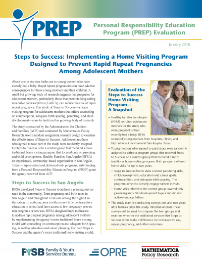 Steps to Success: Implementing a Home Visiting Program Designed to Prevent Rapid Repeat Pregnancies Among Adolescent Mothers Cover Page