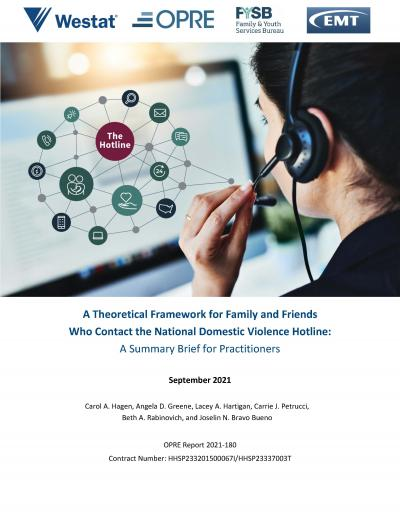 Cover image for A Theoretical Framework for Family and Friends Who Contact the National Domestic Violence Hotline