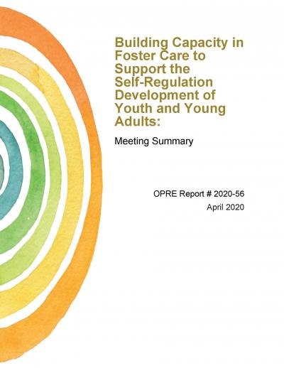 This is the cover of Building Capacity in Foster Care to Support the Self-Regulation Development of Youth and Young Adults: Meeting Summary