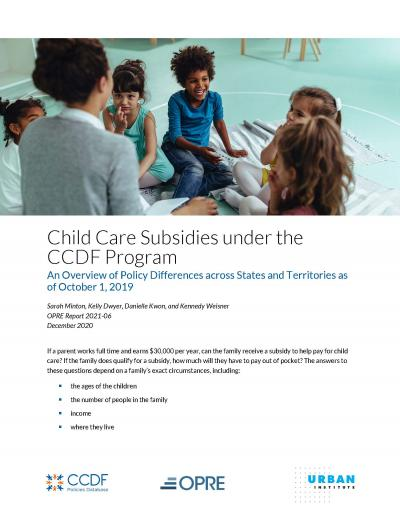 Cover Image for Child Care Subsidies under the CCDF Program