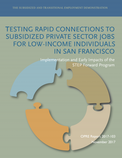 Testing Rapid Connections to Subsidized Private Sector Jobs for Low-Income Individuals in San Francisco: Implementation and Early Impacts of the STEP Forward Program Cover Image