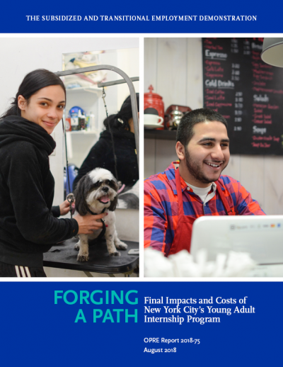 Forging a Path: Impacts and Costs of New York City's Young Adult Internship Program Cover