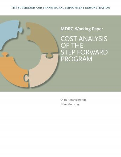 """Cover of """"The Subsidized and Transitional Employment Demonstration: Cost Analysis of the STEP Forward Program"""""""